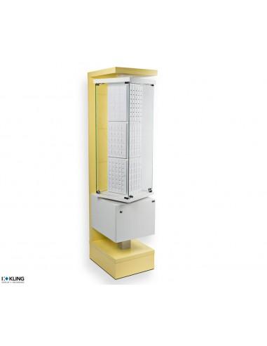 Yellow showcase 24910B - 585x455x1950 mm