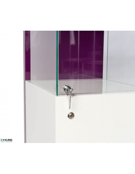 Purple Jewelry Showcase 24910B - 585x455x1950 mm
