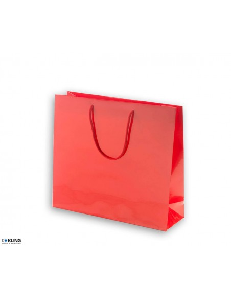 Paper bags with cotton cord, bright lamination - KT4