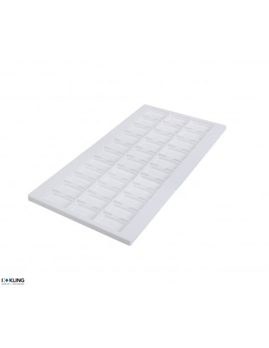 Vacuum-formed Insert 4252V with 33 deep compartments - 460x220 mm