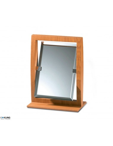 Swivel table mirror made of wood - 27x20x4 cm