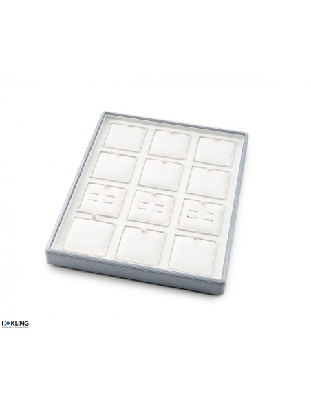 Jewelry tray 6709V with 12 flat poly compartments