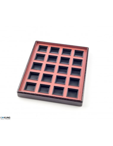 Jewelry tray 6753V with 20 flat poly compartments