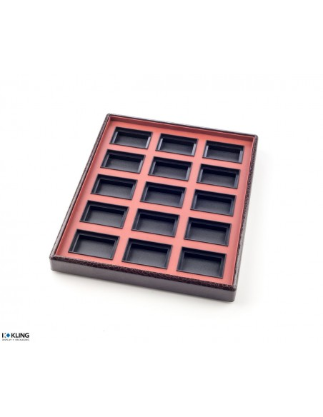 Jewelry tray 6754V with 15 flat poly compartments