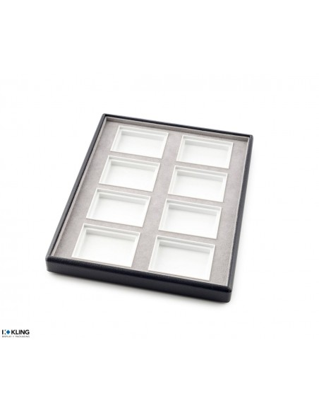 Jewelry tray 6755V with 8 deep poly compartments