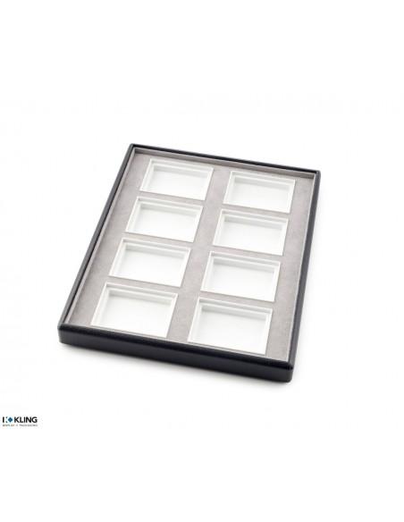 Plateau bijoux 6755V à 8 compartiments poly profonds