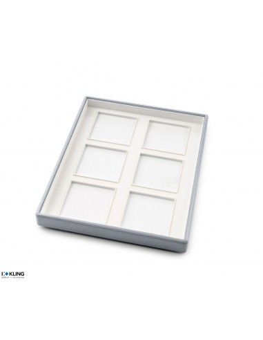 Jewelry tray 6756 with 4 flat poly compartments