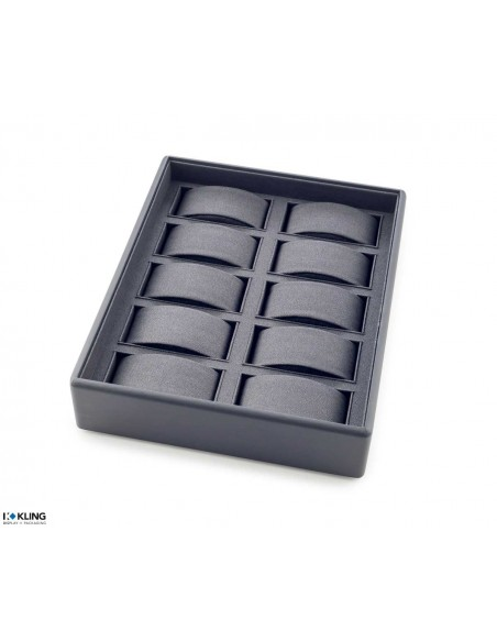 Tray for watches 48U10X with 10 compartments for supports
