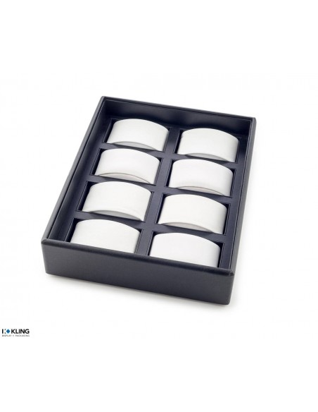 Tray for watches 48U8X with 8 compartments for supports
