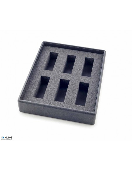 Tray for watches 4840X6 with 6 compartments for supports