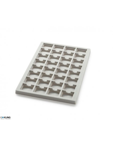 Vacuum-formed insert 3004V with 32 deep compartments
