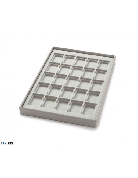 Vacuum-formed insert 3003V with 25 deep compartments
