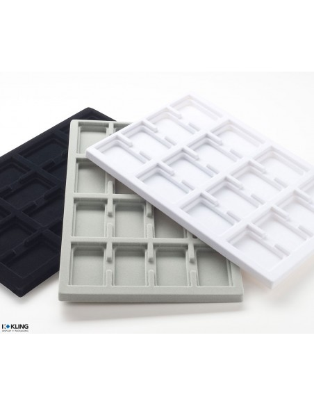 Vacuum-formed insert 3002V with 16 deep compartments
