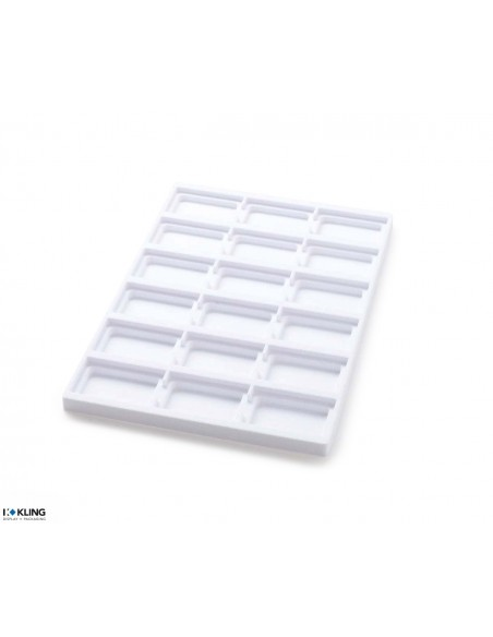 Vacuum-formed insert 3149V with 18 deep compartments