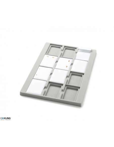 Vacuum-formed insert 3001V with 12 deep compartments