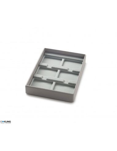 Vacuum-formed insert 3001XV with 6 compartments