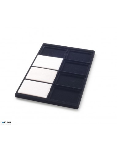 Vacuum-formed insert 3011V with 8 deep-set compartments