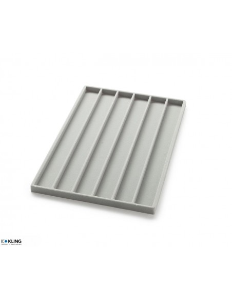 Vacuum-formed insert 3009 with 6 compartments, high partitions