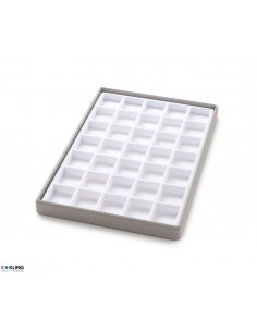 Vacuum-formed insert 3065 with 35 compartments, high dividers