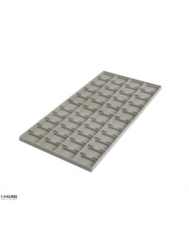 Vacuum-formed insert 4254V with44 deep compartments for Pad series 303