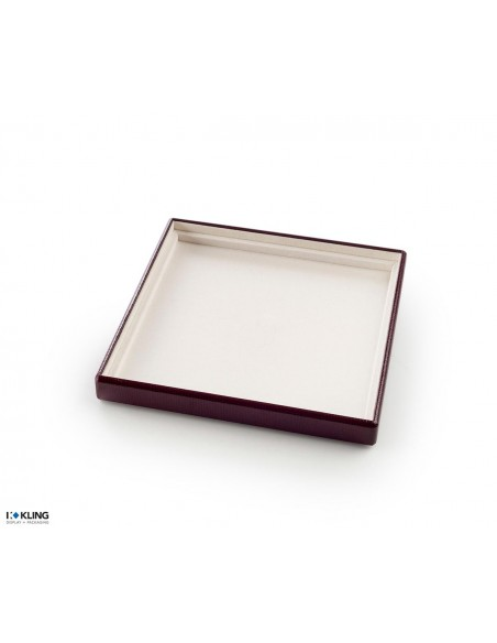 Jewelry tray 4100 with 1 taffeta compartment with inner edging