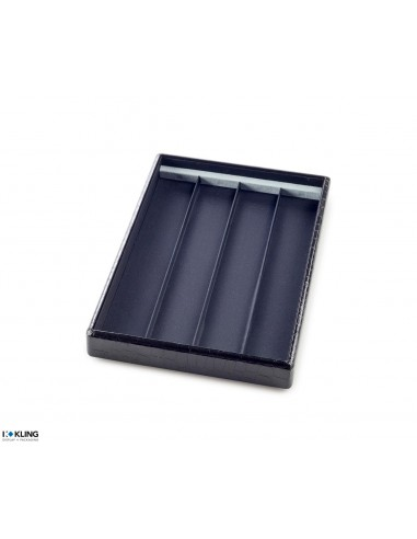 Jewelry tray 4711 with 4 flat taffeta compartments