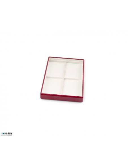 Jewelry tray 4701 with 4 flat taffeta compartments