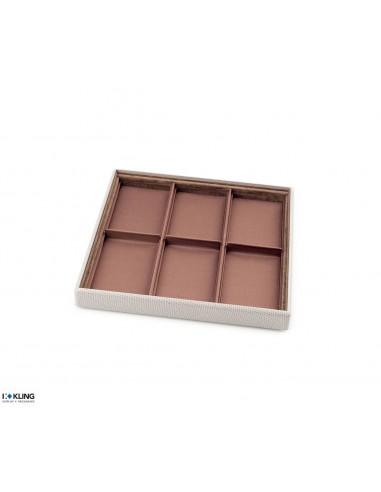 Jewelry tray 4102V with 6 deep taffeta compartments