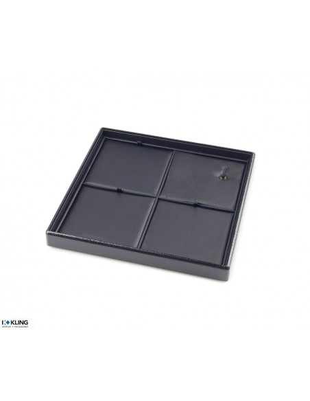 Jewelry tray 41A4 with 4 flat taffeta compartments