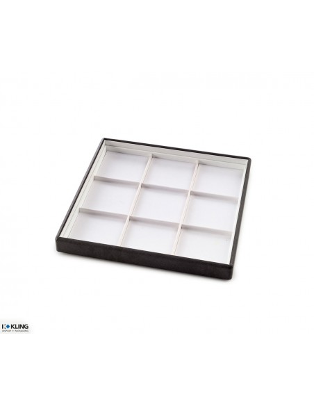 Jewelry tray 4103 with 9 taffeta compartments