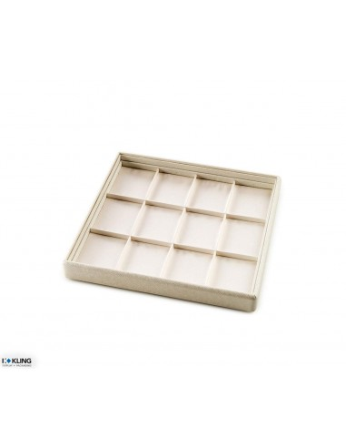 Jewelry tray 4104 with 12 taffeta compartments