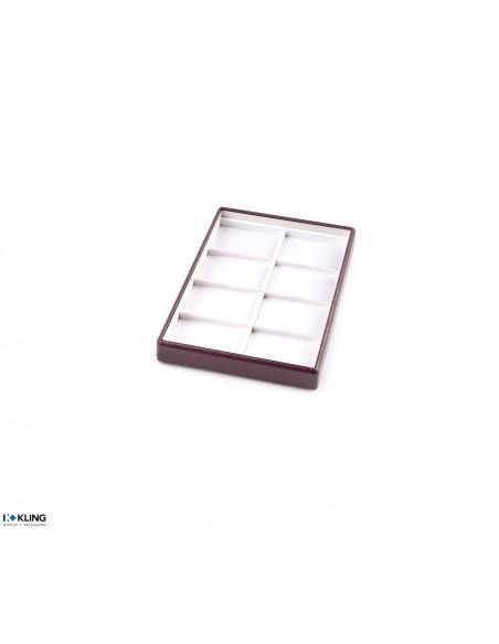 Plateau bijoux 4703 à 8 compartiments taffetas plats