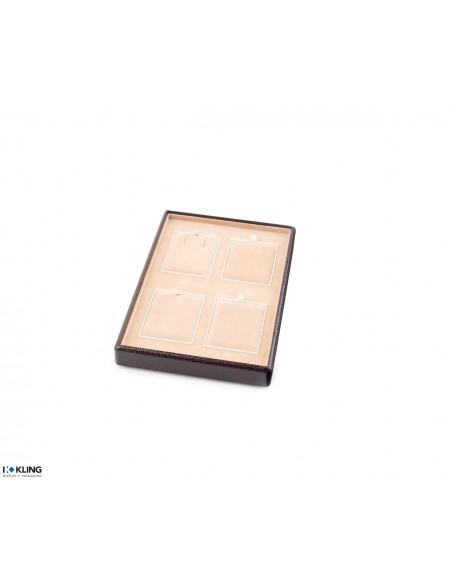 Plateau de bijoux 4704V avec 4 compartiments poly plat