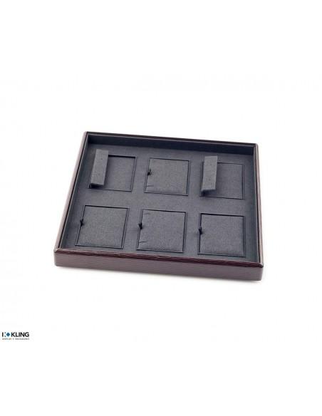 Plateau de bijoux 4155 avec 6 compartiments poly plat