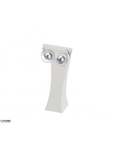 Earring Stand DE56/14 - 40x30x90 mm, white