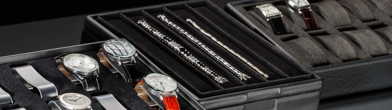 Plateaux de présentation pour montres et bracelets rigides